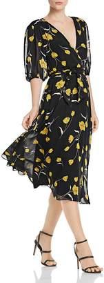 Joie Ervina Silk Floral-Print Dress