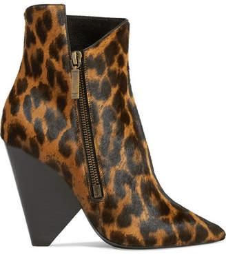Saint Laurent Niki Leopard-print Calf Hair Ankle Boots - Leopard print