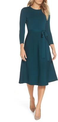 Eliza J Fit & Flare Sweater Dress