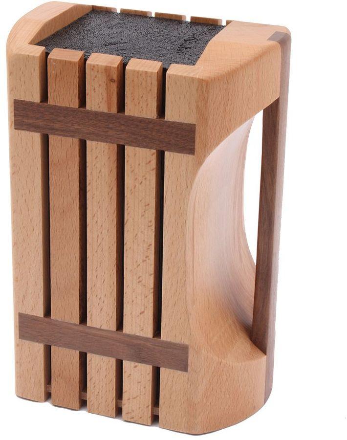 Kapoosh beechwood knife block with carrying handle