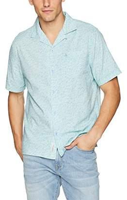 Original Penguin Men's Short Sleeve Diasy Print Cabana Shirt