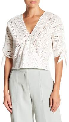 Lucy Paris Short Sleeve Eyelet Blouse