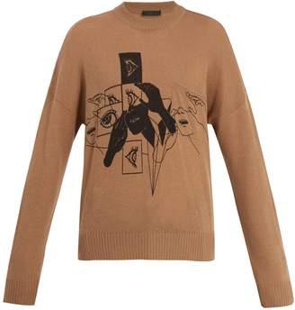 Prada DNA-print cashmere sweater