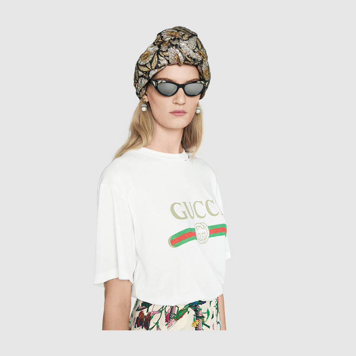 Gucci print cotton t-shirt 4