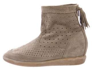 Isabel Marant Basley Perforated Ankle Boots