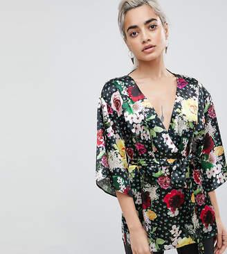 Asos Kimono Wrap Top in Digi Floral