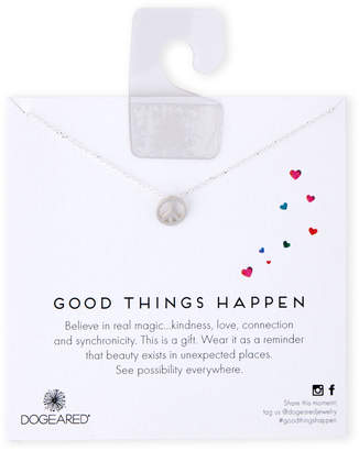 Dogeared Sterling Silver Good Things Happen Necklace