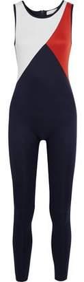 Kain Label Tallulah Cloqu-Paneled Printed Neoprene-Jersey Jumpsuit