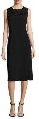 BOSS Deffy Beaded Crepe Dress $895 thestylecure.com