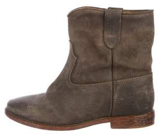 Isabel Marant Suede Leather Boots Grey Suede Leather Boots