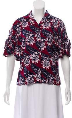 Thakoon Cut Out Button-Up Top w/ Tags