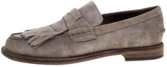Burberry Grey Suede Flats