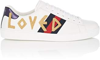 Gucci Men's Ace Embroidered Leather Sneakers