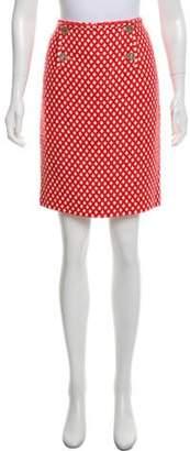 Chanel Tweed Knee-Length Skirt Red Tweed Knee-Length Skirt