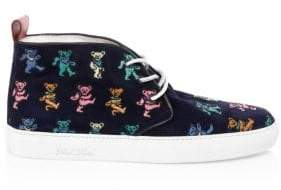 Del Toro Grateful Dead Bears Allover Suede Chukkas