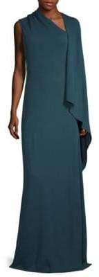 Narciso Rodriguez Jersey Cape Gown
