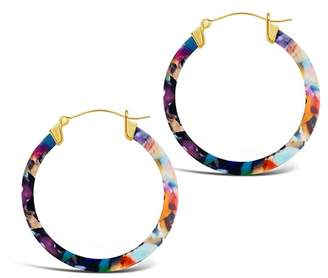 Sterling Forever 14K Yellow Gold Plated 50mm Confetti Acetate Hoop Earrings