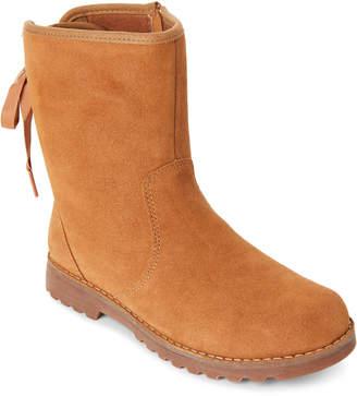 UGG Kids Girls) Chestnut Corene Lace-Up Boots
