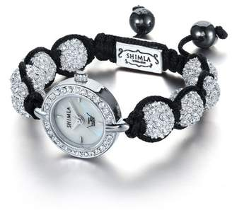 LTD Watch Ltd Ladies Watch Sh 043 - Stone Set Head On A Shimla Crystal Bead Bracelet