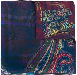 Etro square printed scarf