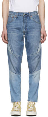 Levi's Levis Blue Hi Ball Roll Moto Jeans