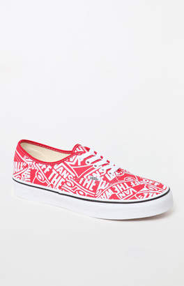 Vans OTW Repeat Authentic Red   White Shoes 157c05dd1