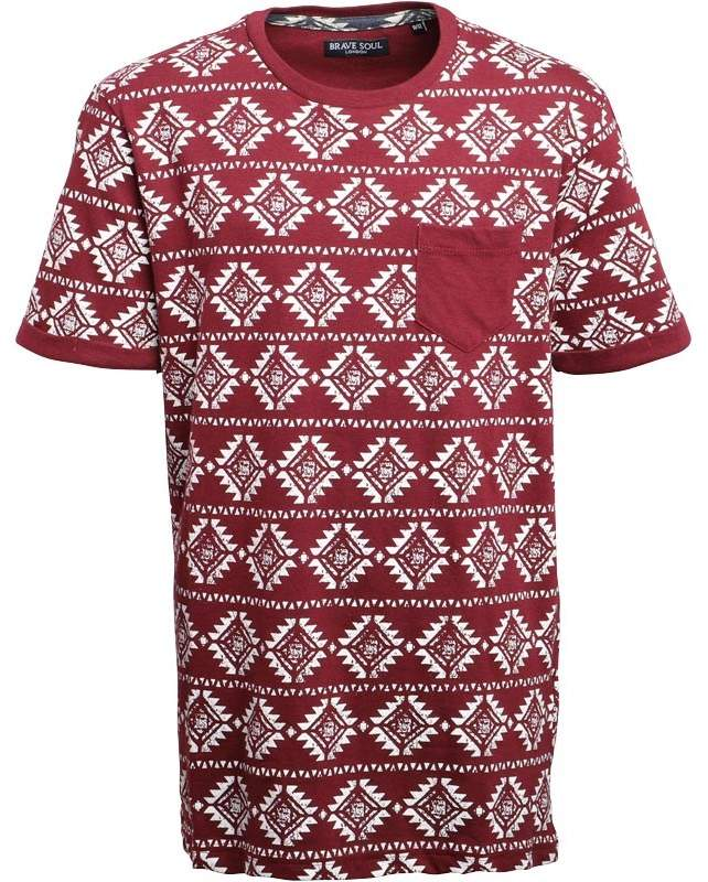 Jungen Deon Aztec T-Shirt Burgunderrot