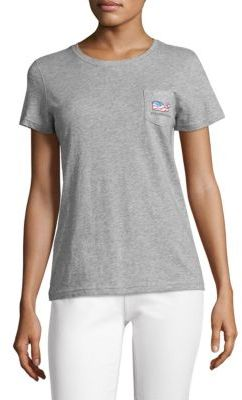 Vineyard Vines Heathered Waving Flag Tee $45 thestylecure.com