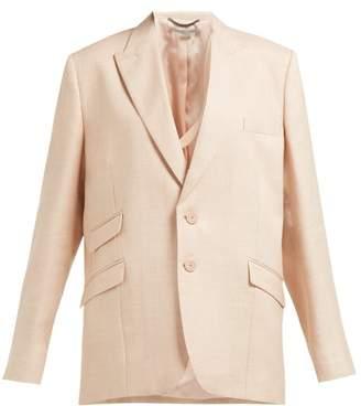 Stella McCartney Single Breasted Twill Blazer - Womens - Light Pink
