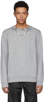 Givenchy Grey Jewel Sweatshirt