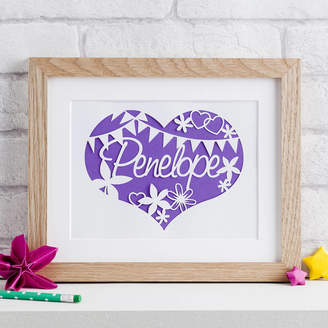 love Poppet Nursery 'Flowers And Bunting' Paper Cut Art