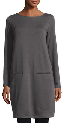 Eileen Fisher Long-Sleeve Fleece Tunic $158 thestylecure.com