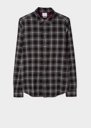 Paul Smith Men's Tailored-Fit Black Check Cotton Shirt