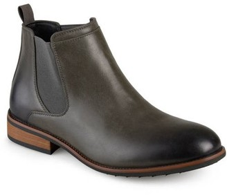 Territory Men's Faux Leather High Top Round Toe Medium and Wide Width Chelsea Dress Boots