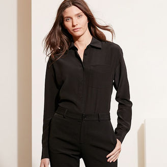 Ralph Lauren Silk Long-Sleeve Shirt $155 thestylecure.com