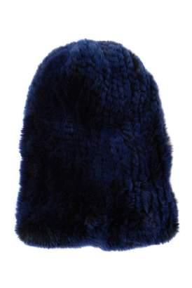 Surell Genuine Rex Rabbit Fur Slouchy Beanie