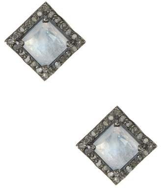 ADORNIA Moore Moonstone & Champagne Diamond Earrings - 0.30 ctw