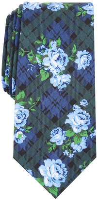 Bar III Men's Rose Tartan Skinny Tie