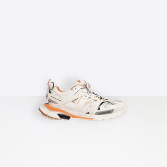 Balenciaga Track trainers in white and orange mesh and nylon