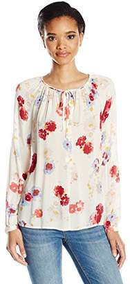 Lucky Brand Women's Major Floral Peasant Top