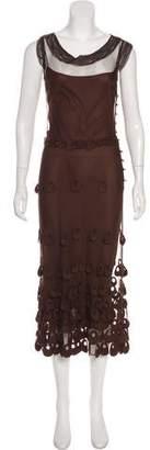 Lela Rose Beaded Lace Dress