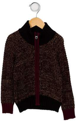 Little Marc Jacobs Patterned Zip Front Cardigan w/ Tags
