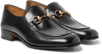 Gucci Mister Horsebit Collapsible-Heel Leather Loafers - Men - Black