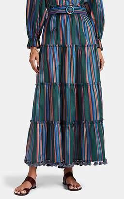 Zimmermann Women's Allia Striped Cotton Belted Maxi Skirt