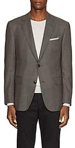 Pal Zileri MEN'S WOOL-SILK TWO-BUTTON SPORTCOAT-BROWN SIZE 42 S
