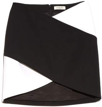 Thierry Mugler Bi-colour cady mini skirt