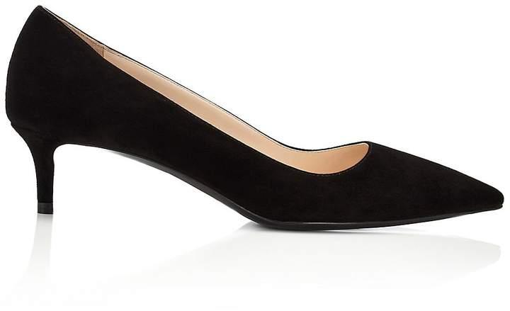 Prada Women's Suede Kitten-Heel Pumps