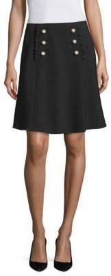 Kate Spade New York Faux Pearl Buttoned A-Line Skirt