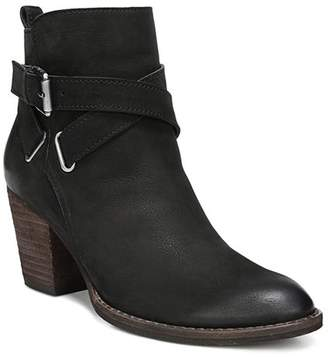 0bfc6feff90 Sam Edelman Women s Morris Almond Toe Leather Mid-Heel Booties
