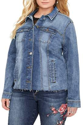 Addition Elle Love & Legend Ruffle Denim Jacket (Plus Size)